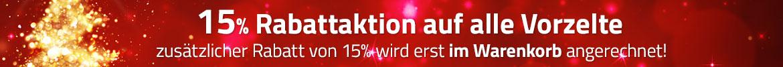 15% Aktion auf alle Vorzelte