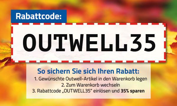 Outwell-Aktion 35% Rabatt auf alle Outwell-Artikel