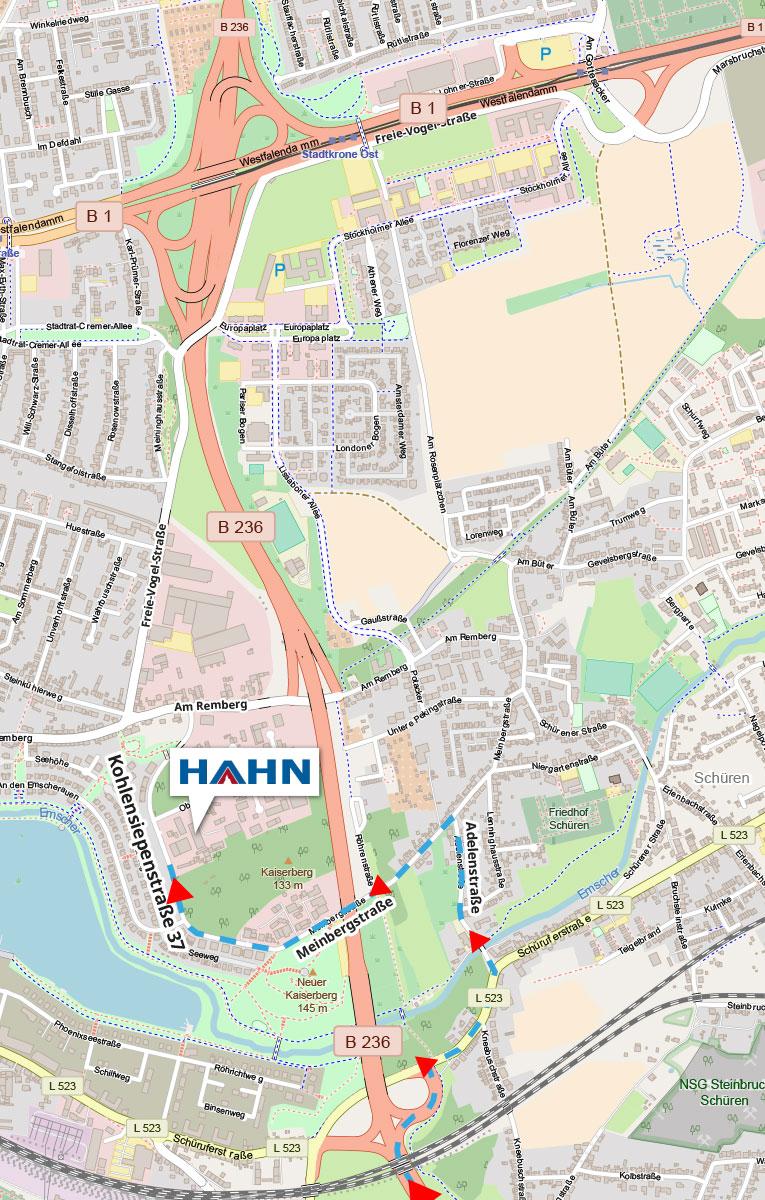Anfahrt Hahn